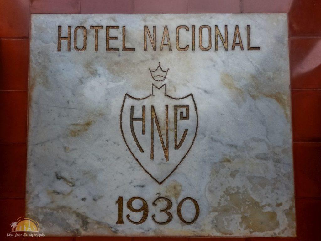 Marmurowa tablica - Hotel Nacional