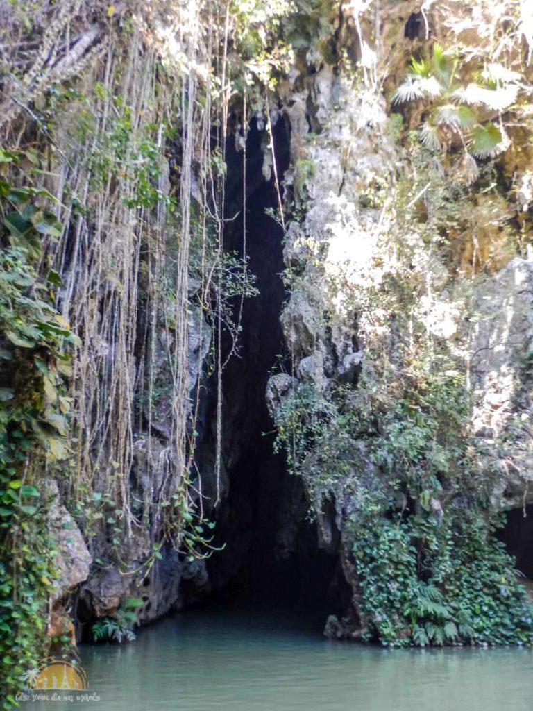 Ujście rzeki z jaskini Cueva del Indo