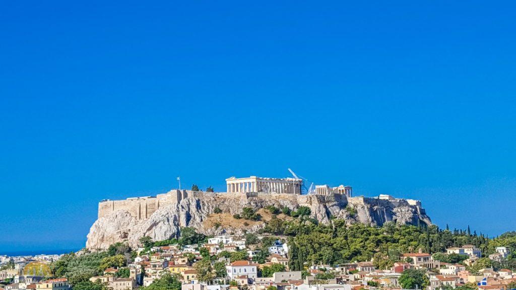 Widok na Akropol Ateny