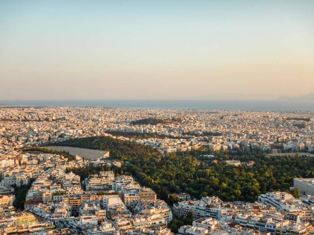 Widok z wzgórza Likavitos