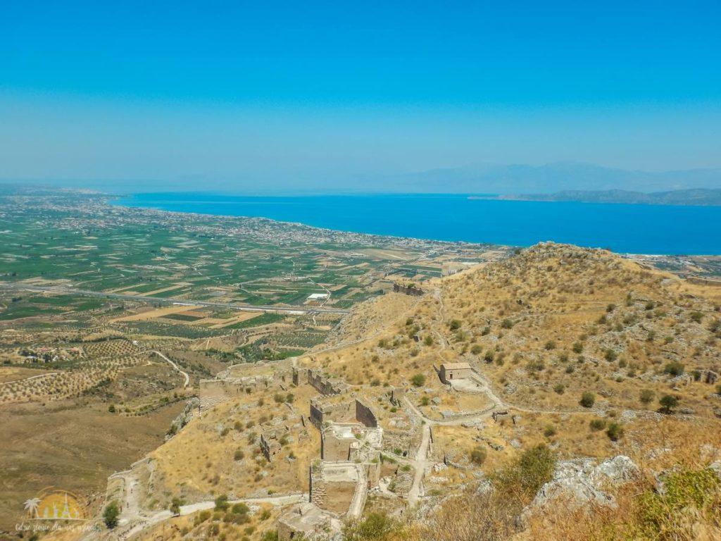 Grecja Peloponez Akrokorynt mury