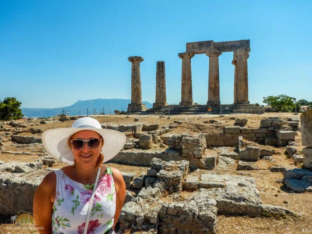 Grecja Peloponez Korynt Świątynia Apollina