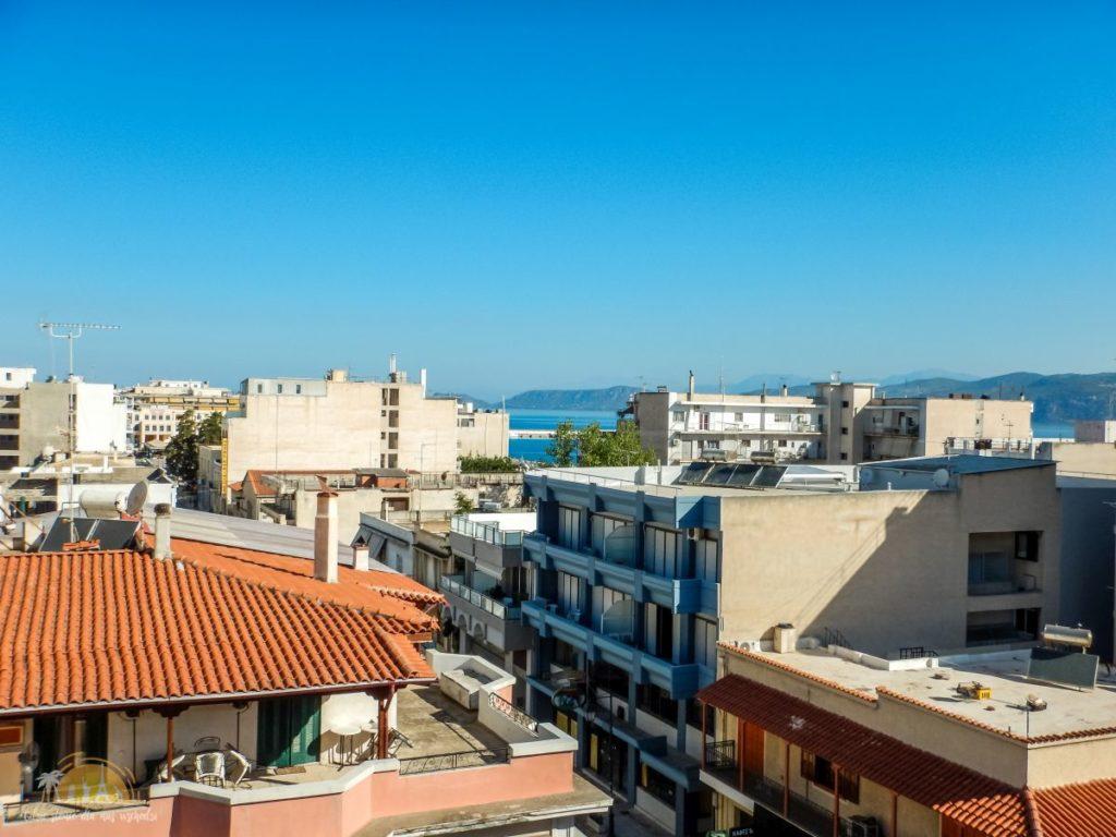 Grecja Peloponez Korynt widok z hotelu Acropolis
