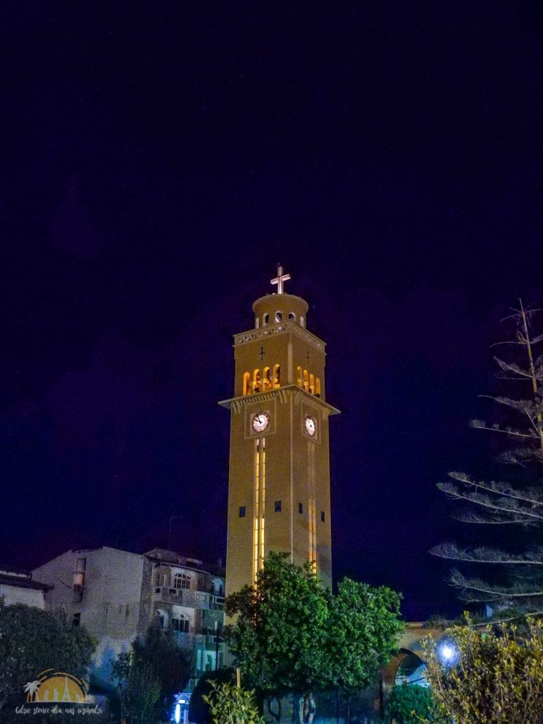 Grecja Peloponez Korynt wieża katedry Św. Pawła Apostoła