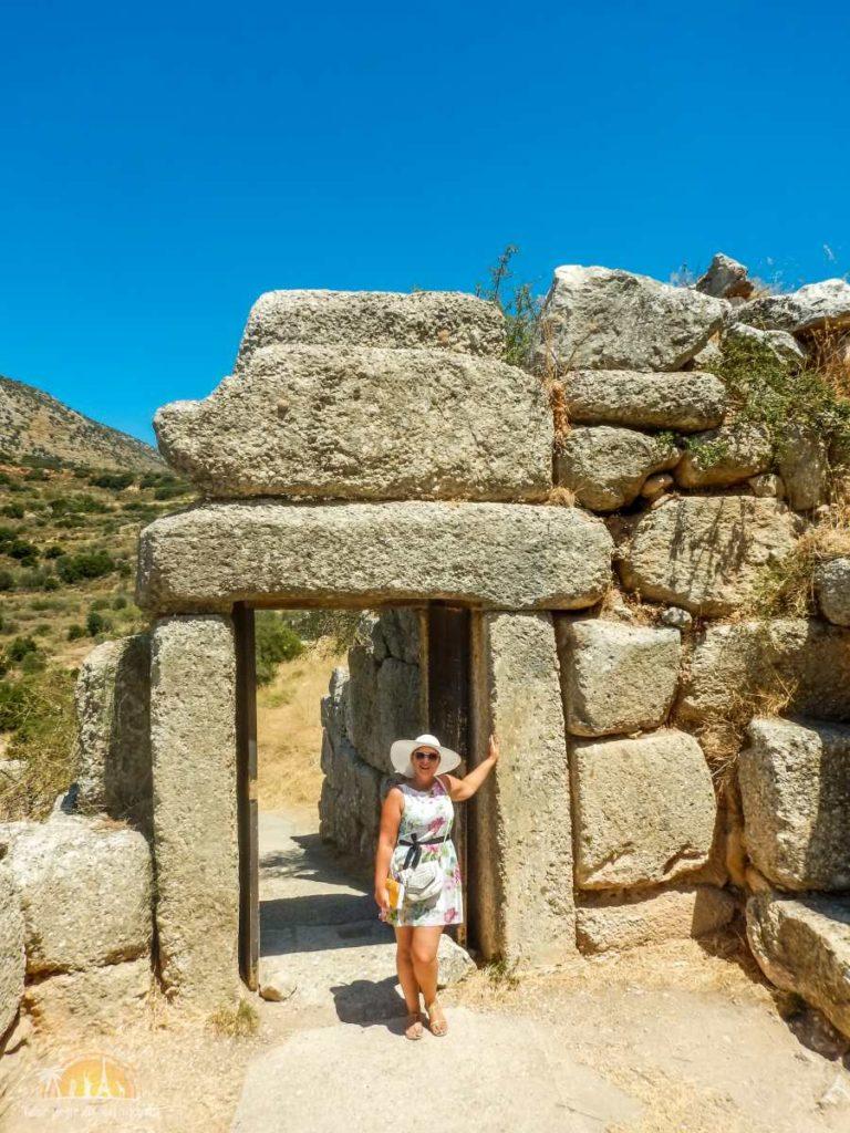 Grecja Peloponez Mykeny Brama Północna