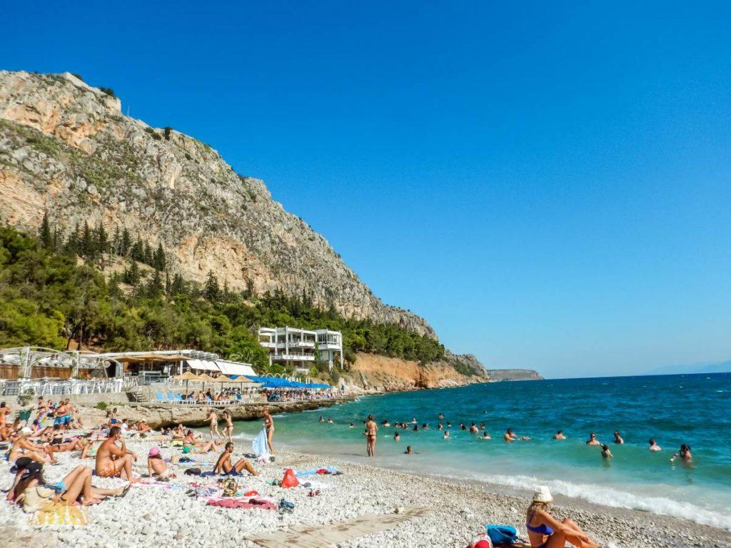 Grecja Peloponez Nauplion plaża Arvanitia