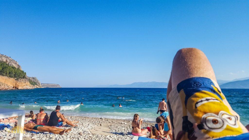 Grecja Peloponez Nauplion relaks na plaży Arvanitia