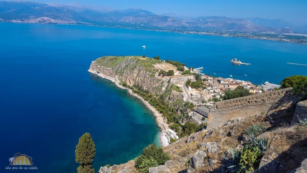 Grecja Peloponez Nauplion widok na zamek Akronafplia