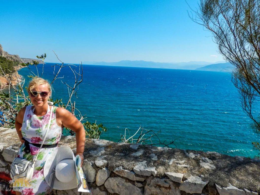 Grecja Peloponez Nauplion widok na zatokę Argolikos