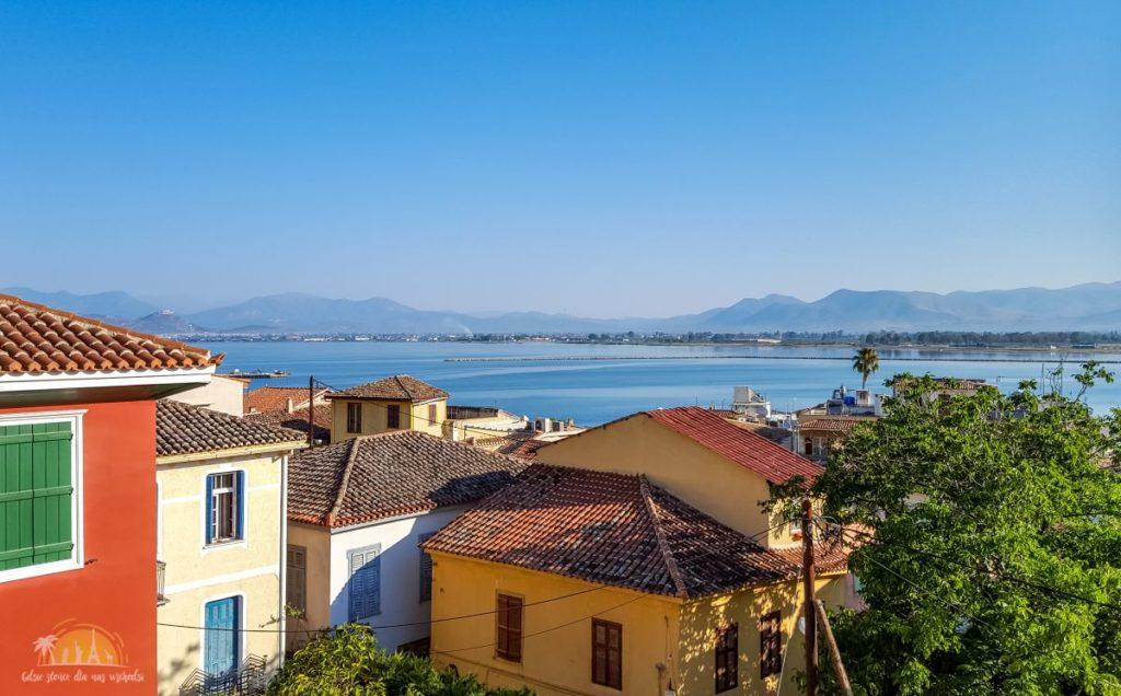 Grecja Peloponez Nauplion widok z hotelu Leto Nuevo