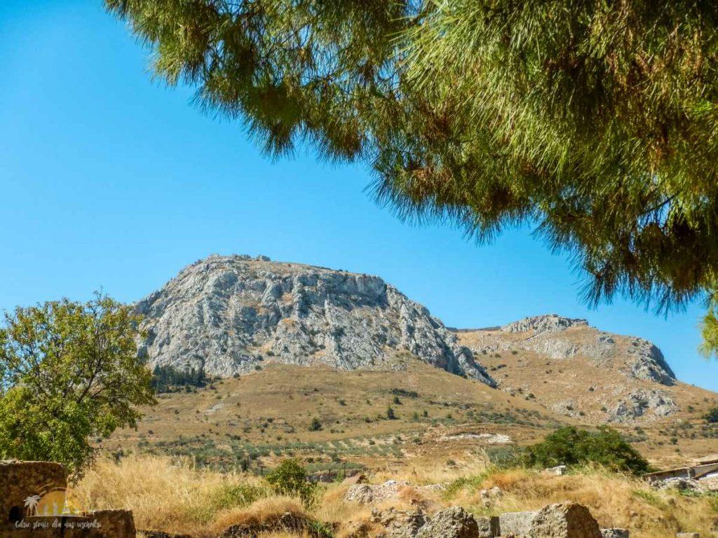 Grecja Poloponez widok na Akrokorynt