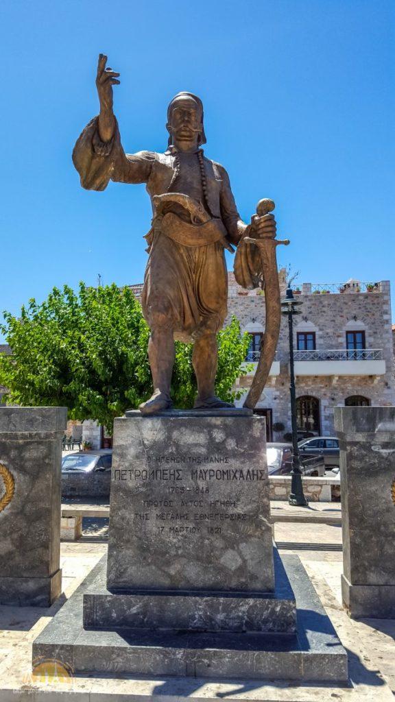 Grecja Areópoli pomnik Petrosa Mavromichalisa