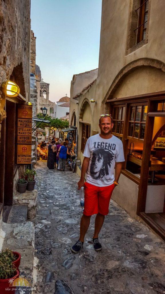 Grecja Monemavasia wąskie uliczki