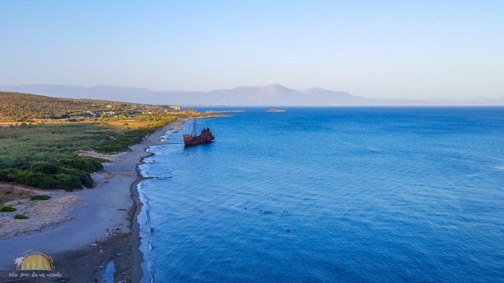 Grecja Peloponez wrak statku Dimitrios