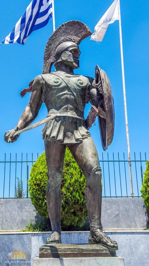 Grecja Sparta - pomnik króla Leonidasa