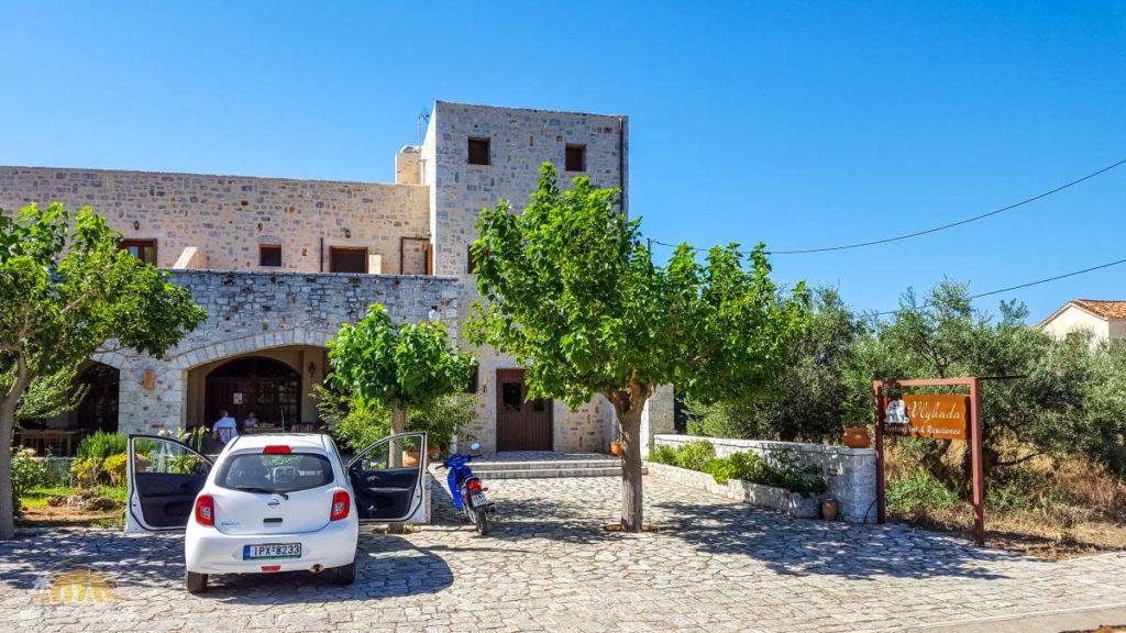 Grecja Vlyada Guesthouse i biała strzała