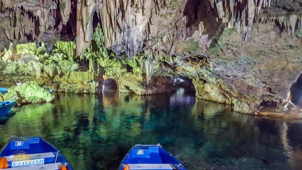 Grecja jaskinia cave Dirós podziemna rzeka