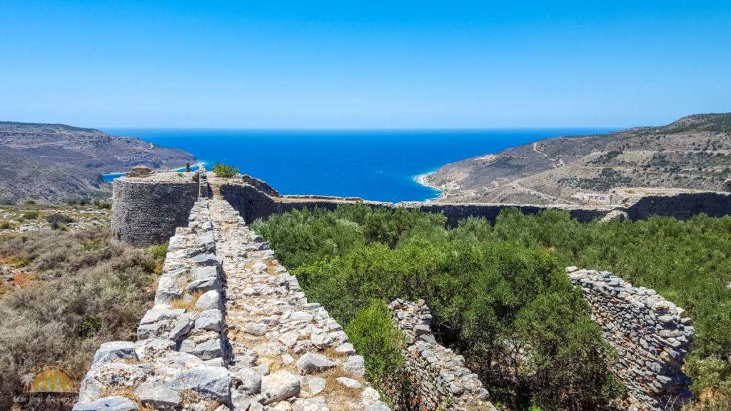Grecja mury zamku Kelefá