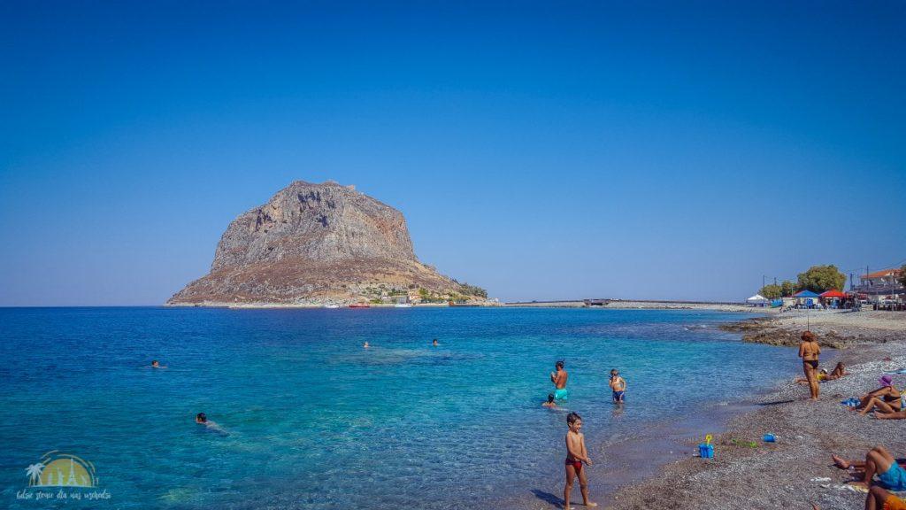 Grecja plaża Monemavasia