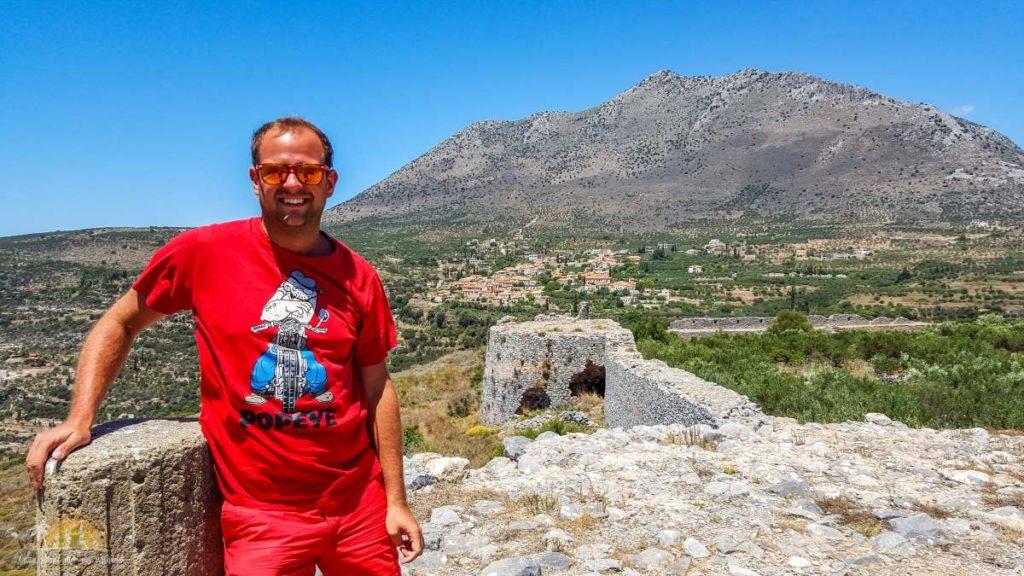 Grecja ruiny zamku Kelefá