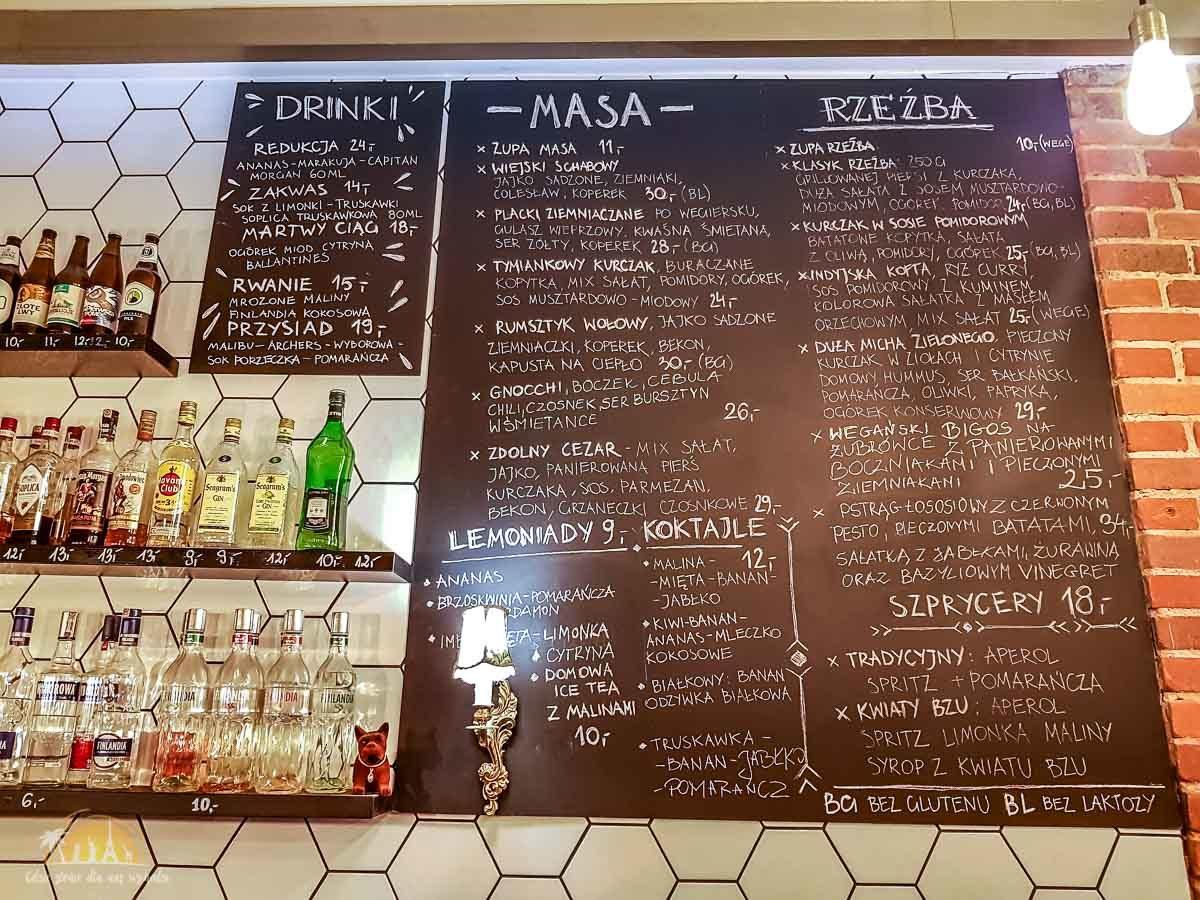 Zdolni poznan restauracja menu