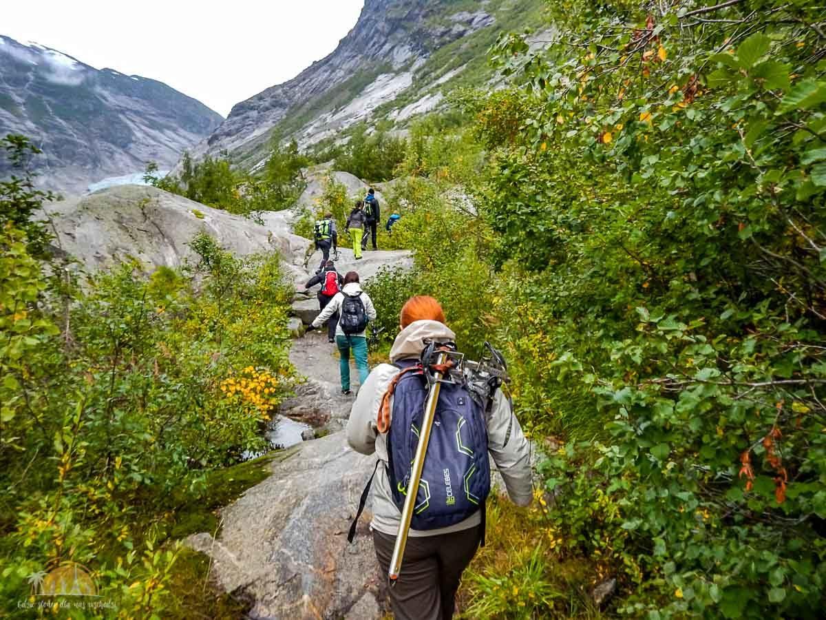 Lodowiec Nigardsbreen Norwegia trekking 7