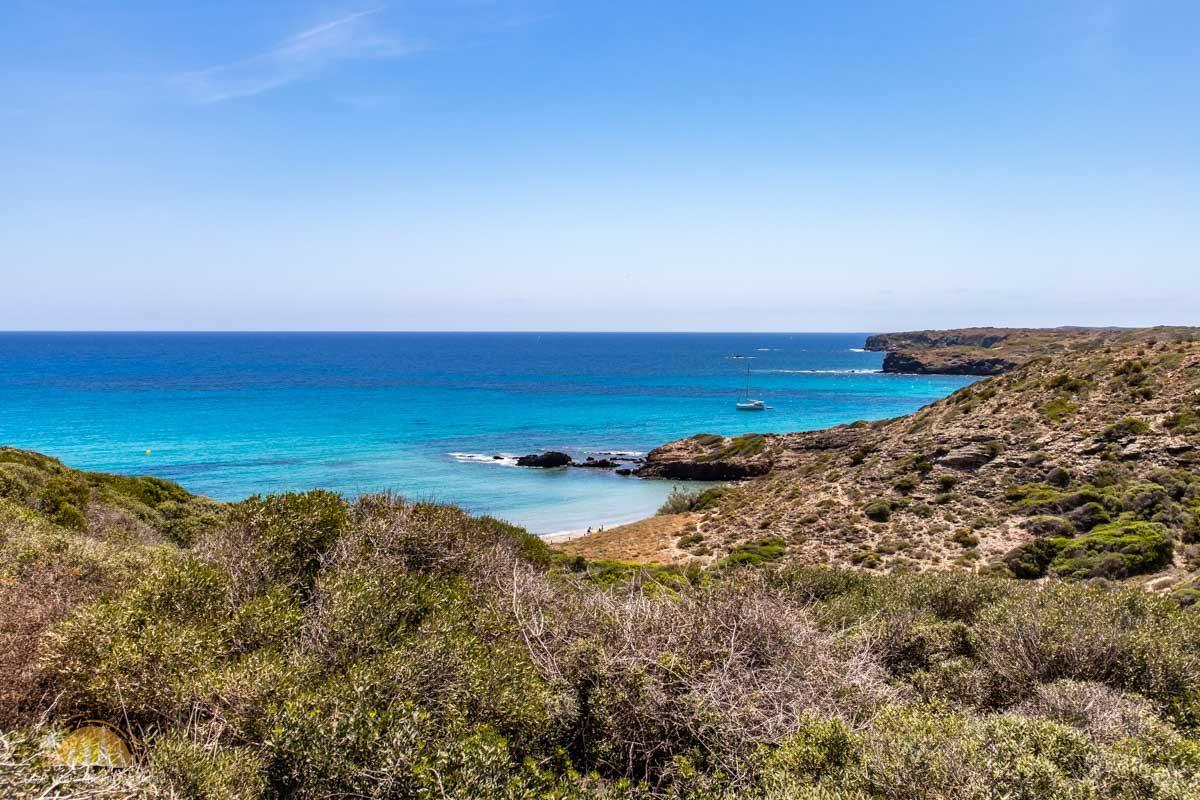Minorka plaża cala Presili 1