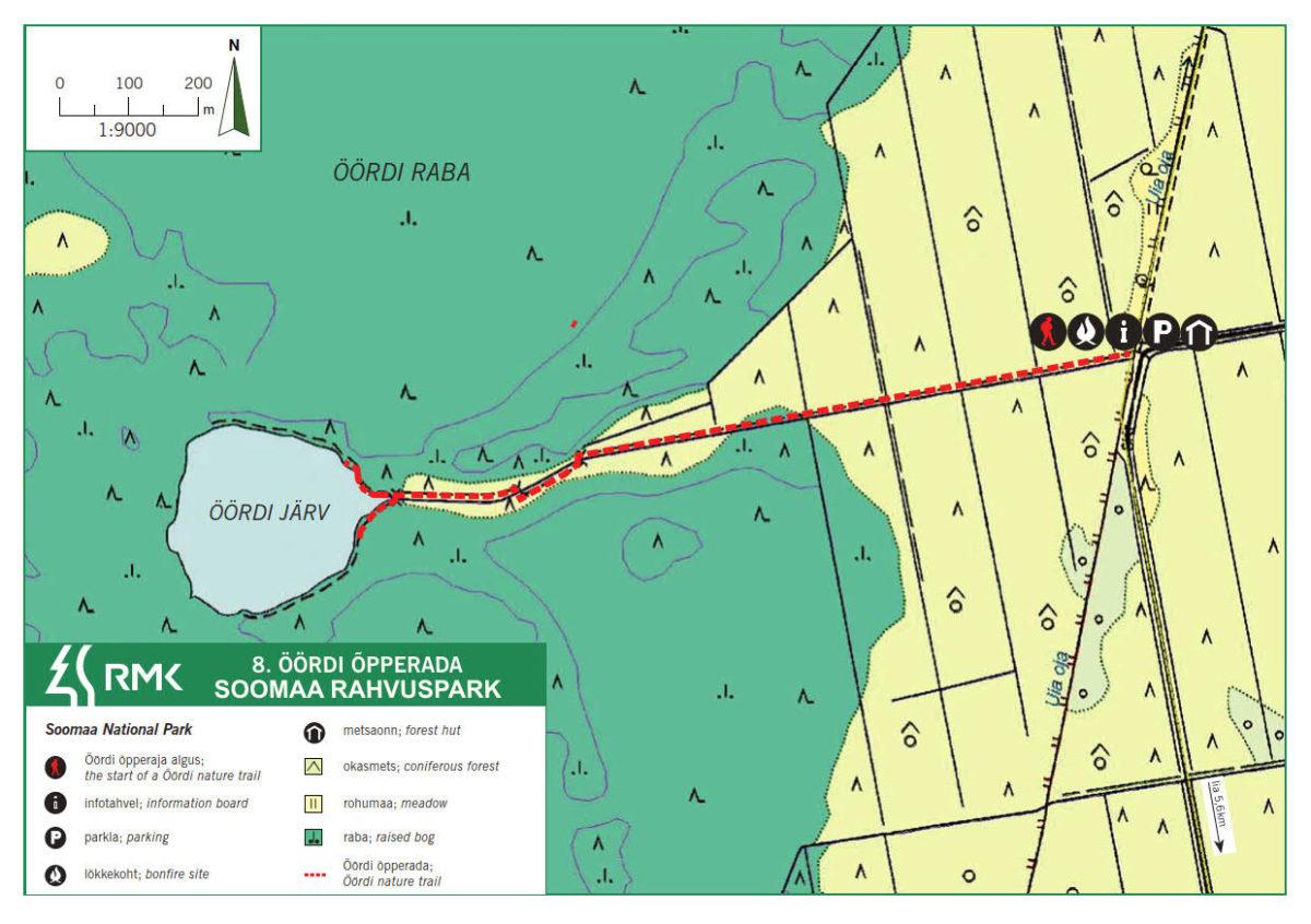 Öördi study trail - Öördi hiking trail