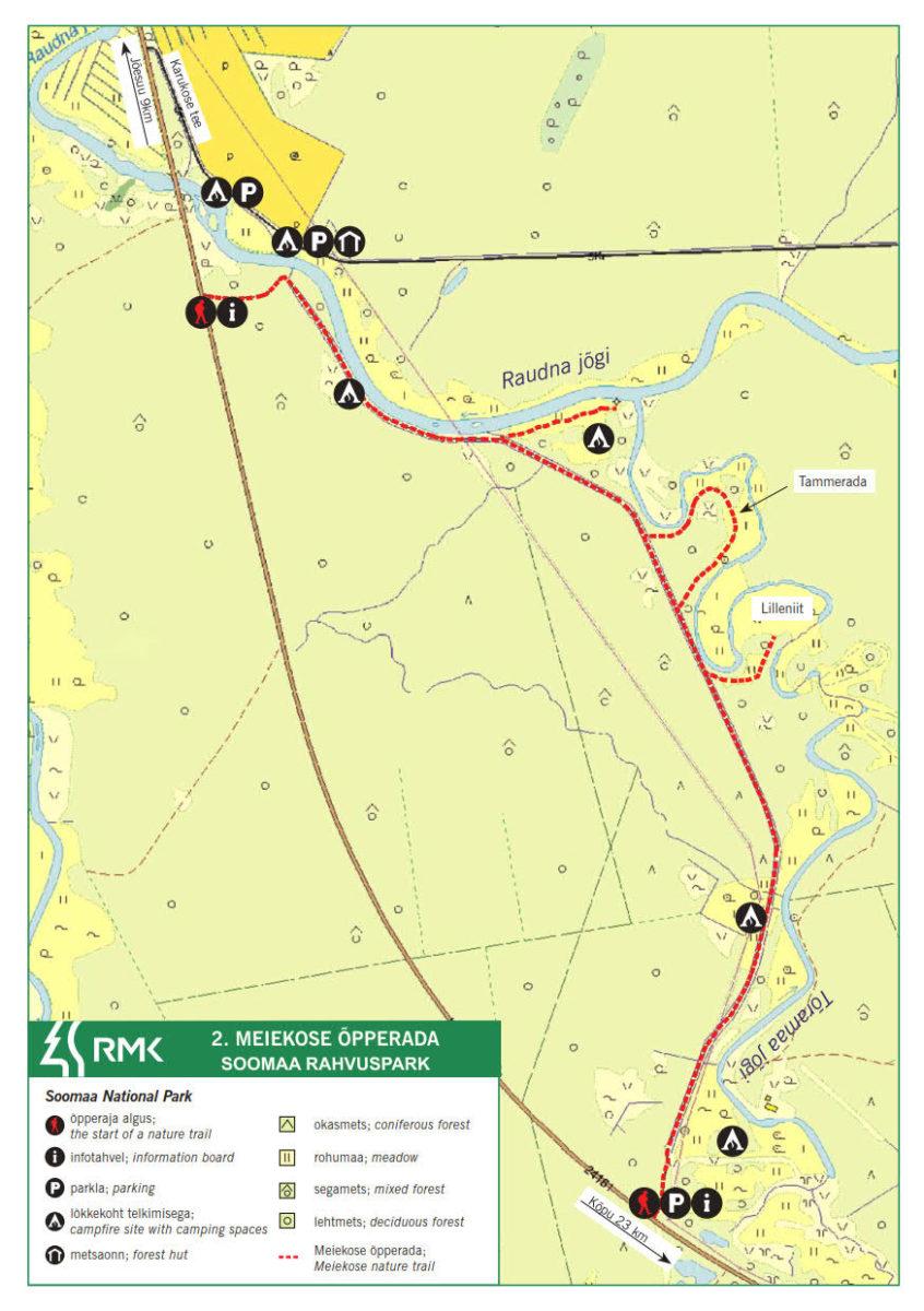 Meiekose study trail – Meiekose hiking trail