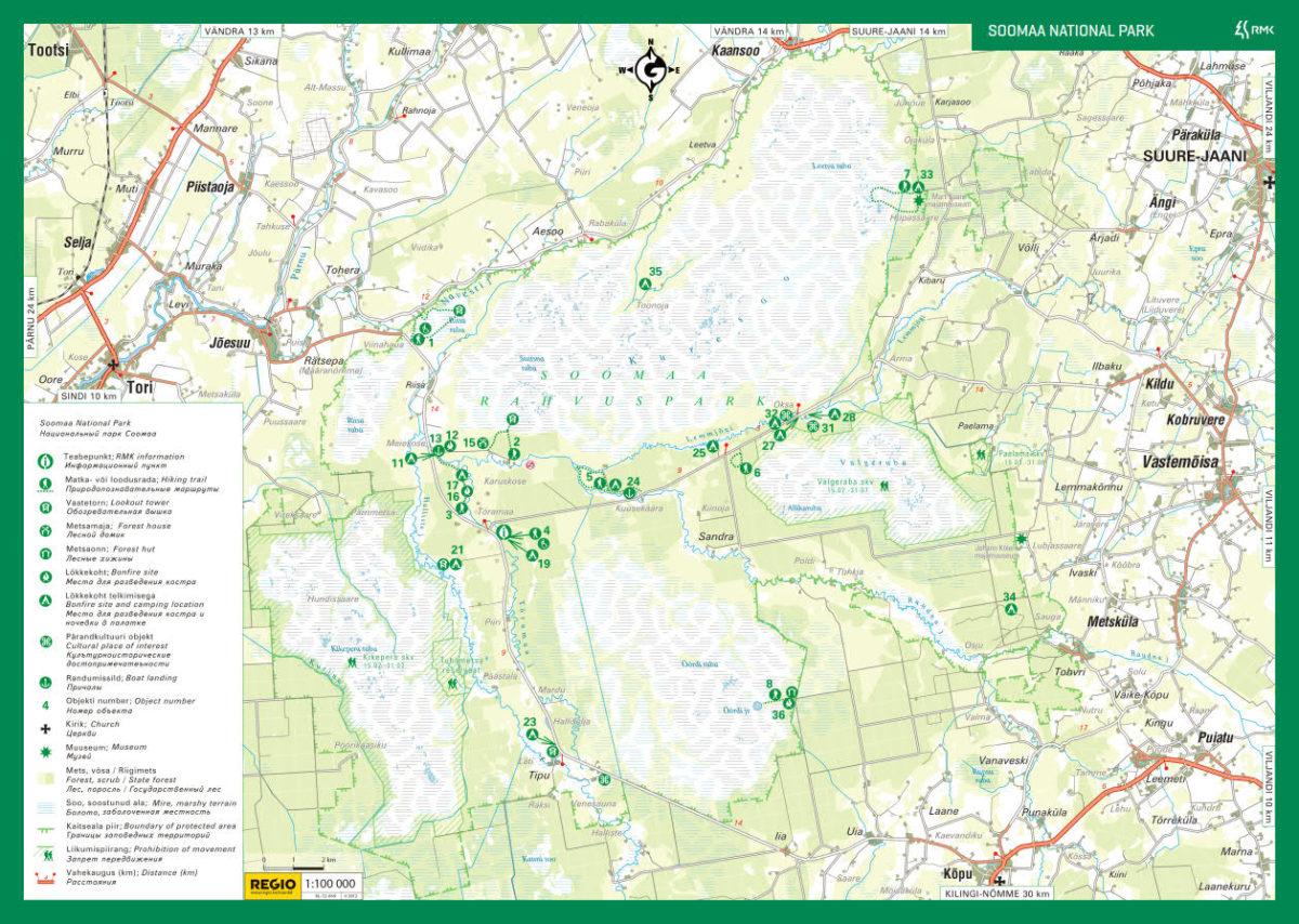 Park Soomaa mapa