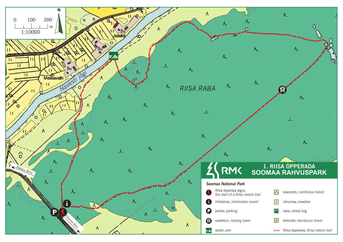 Riisa study trail – Riisa bog trail