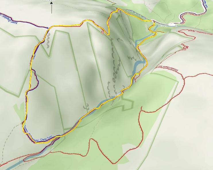 Wąwóz Turda Rumunia Mapa 3D