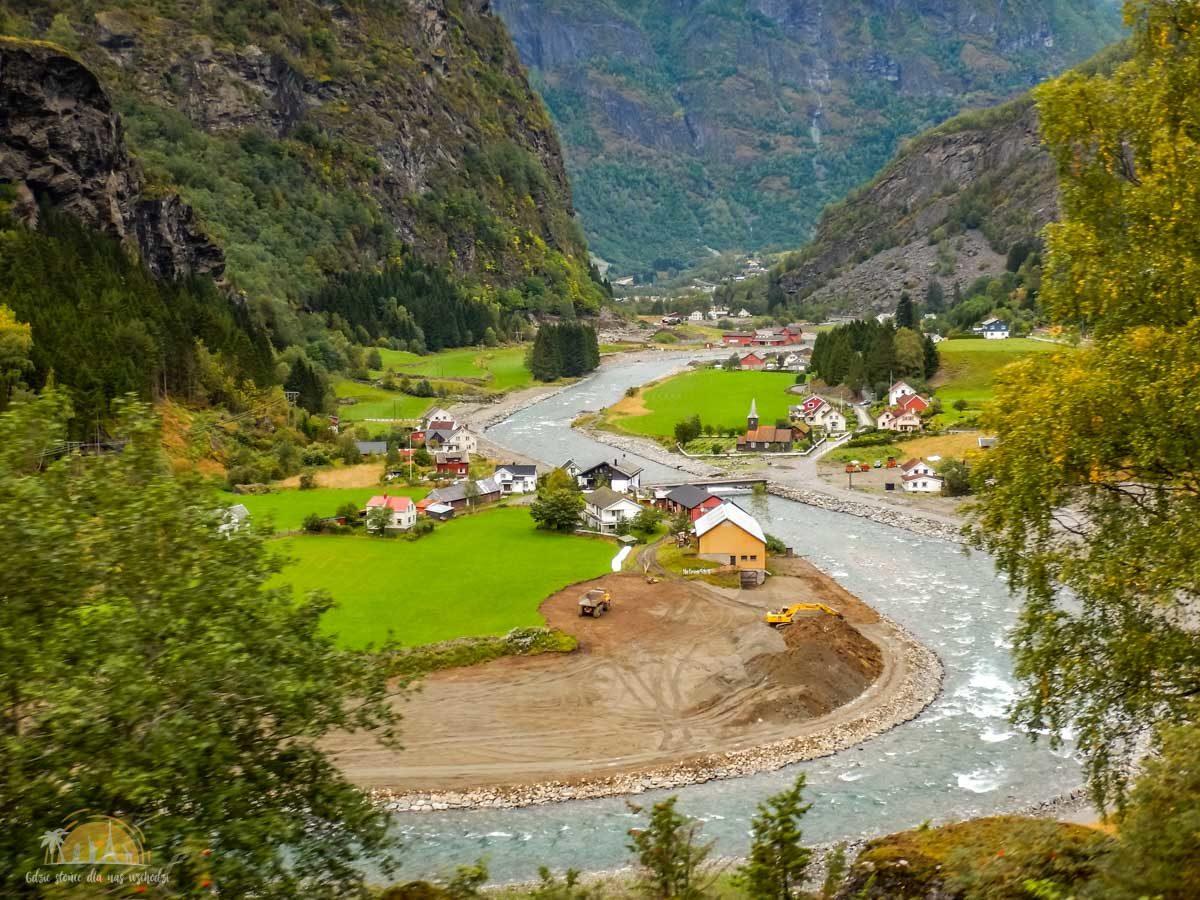 Flåmsbana Norwegia Atrakcje trasa kolejowa 1