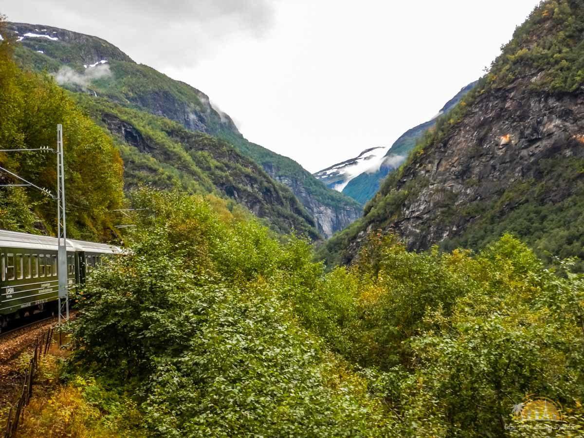 Flåmsbana Norwegia Atrakcje trasa kolejowa 3