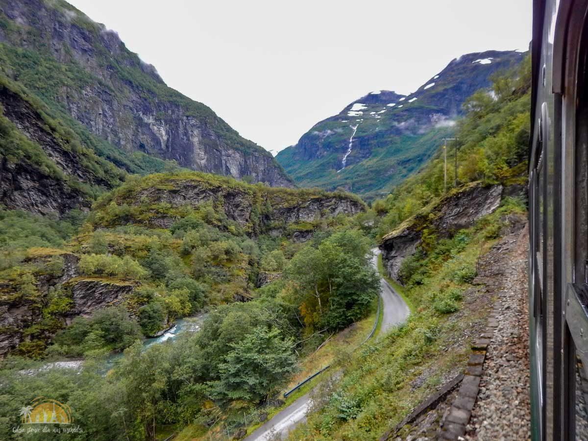 Flåmsbana Norwegia Atrakcje trasa kolejowa 5