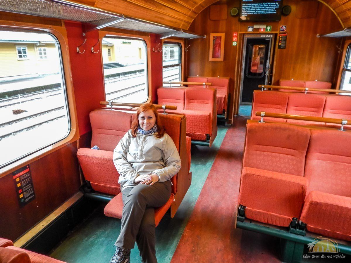 Flåmsbana Norwegia Atrakcje wagony 2
