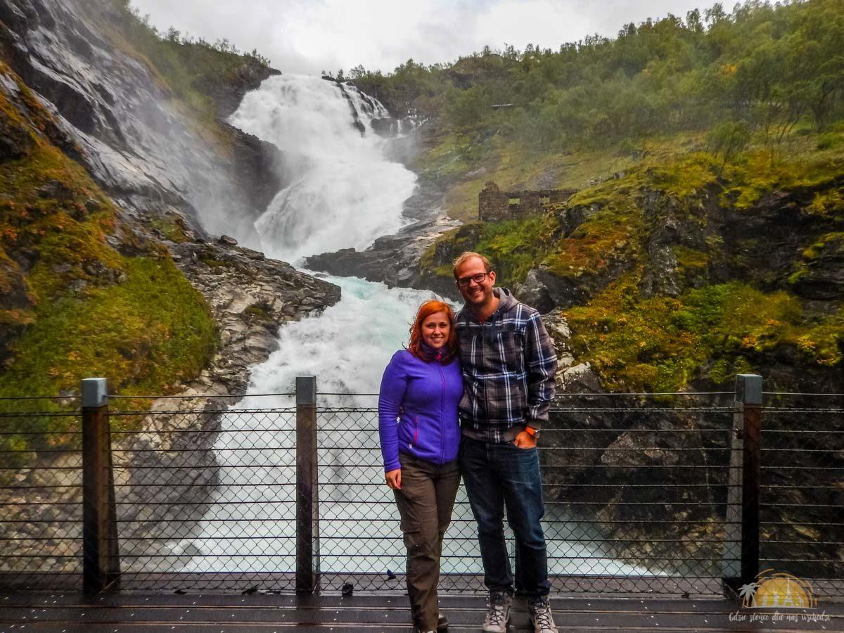 Flamsbana Norwegia Atrakcje Kjosfossen 13