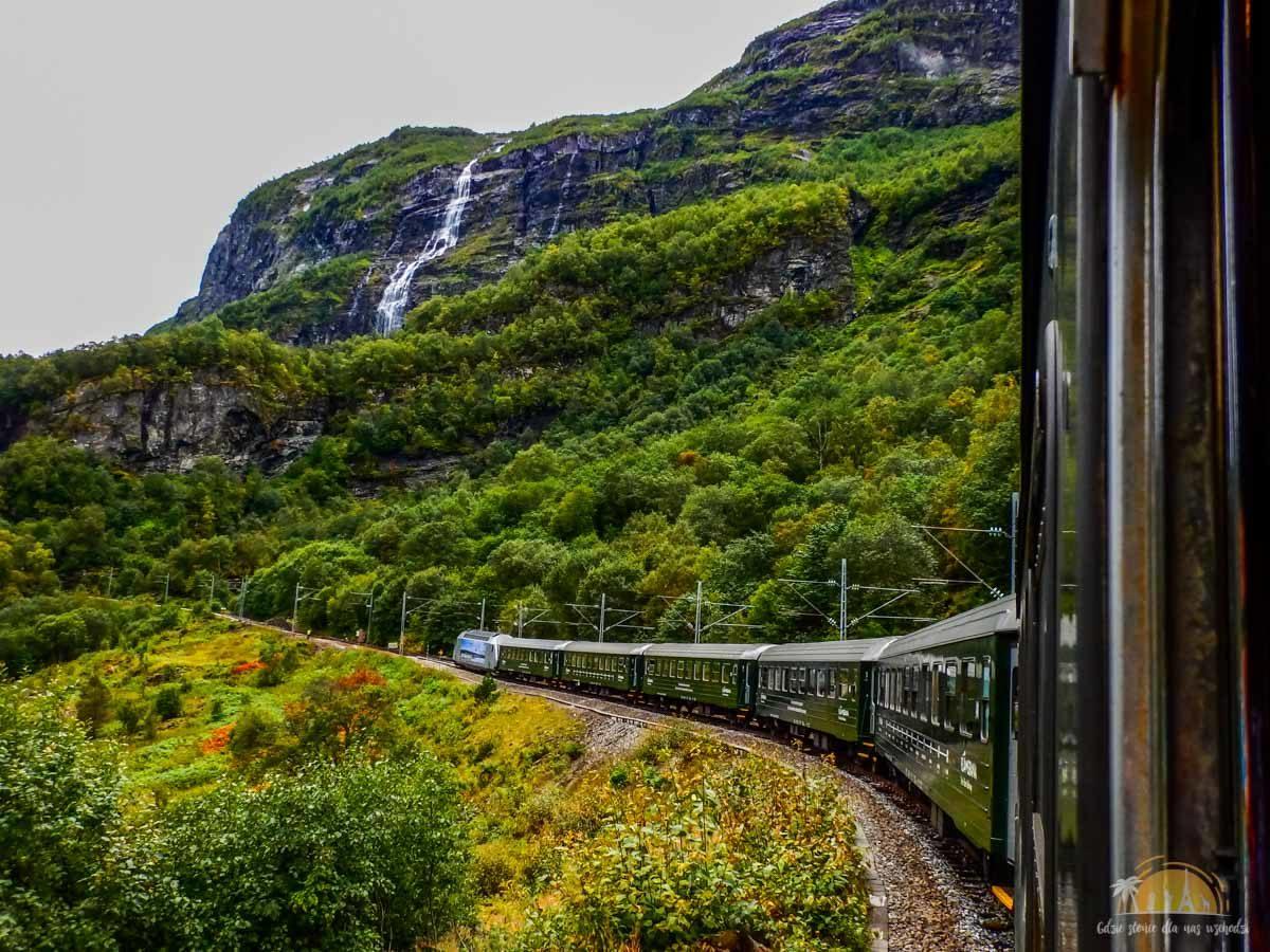 Flamsbana Norwegia Atrakcje trasa kolejowa 8