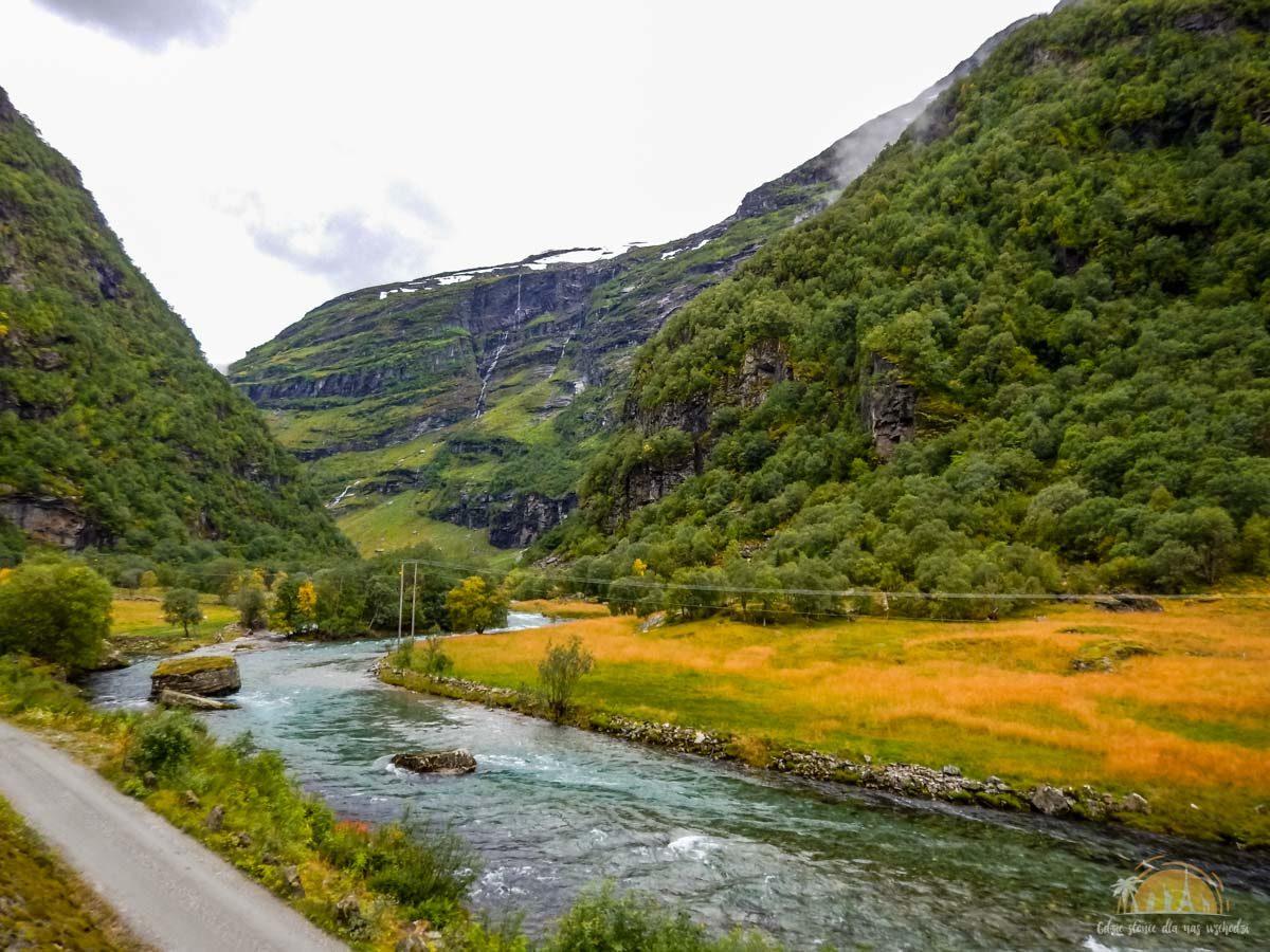 Flamsbana Norwegia Atrakcje trasa kolejowa 9